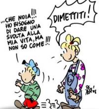 Dimissioni, facsimile a uso generale. Editoriale Roma Cronache Lucane