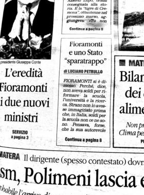 """Conte e lo """"sparatrappo"""", dal Quotidiano del Sud"""