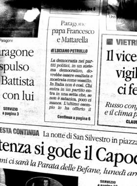 Paragone, Papa Francesco e Mattarella, dal Quotidiano del Sud