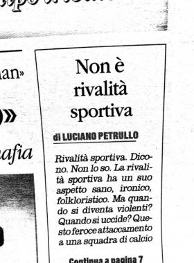 La chiamano rivalità sportiva, dal Quotidiano del Sud