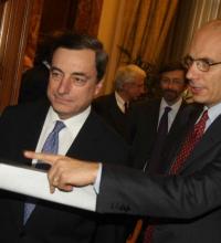 Draghi e Letta come Cip e Ciop.